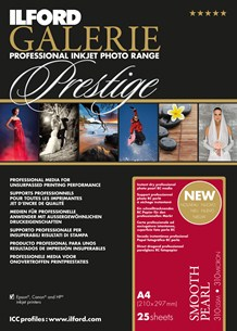 GPSPP12 GALERIE Prestige Smooth Pearl Photo Paper - 8.5x11 25 Sheets *FREE SHIPPING*