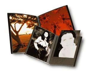 The Original Art Profolio Presentation Book 5&Quot; X 7&Quot; Photo 24 Sheet For 48 Pictures - Black *FREE SHIPPING*