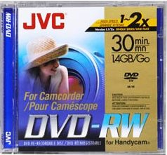 Vdw-14du, 1.4gb (30 Minutes) Single Sided Mini Dvd-Rw Disc For Dvd Camcorders With Jewel Case