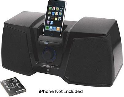 iK350 Mid-Size Digital Docking Stereo System For iPod/iPhone - Black *FREE SHIPPING*