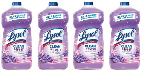 Clean & Fresh Multi Surface Cleaner Lavender & Orchid Scent 28oz (4-Pack) *FREE SHIPPING*