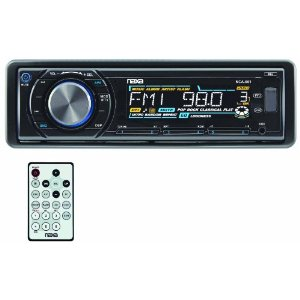 Electronics NCA-601 Fold Down Full Detachable PLL Electronic Tuning Stereo AM/FM Radio MP3/CD Player-Set (Shiny black) *FREE SHIPPING*