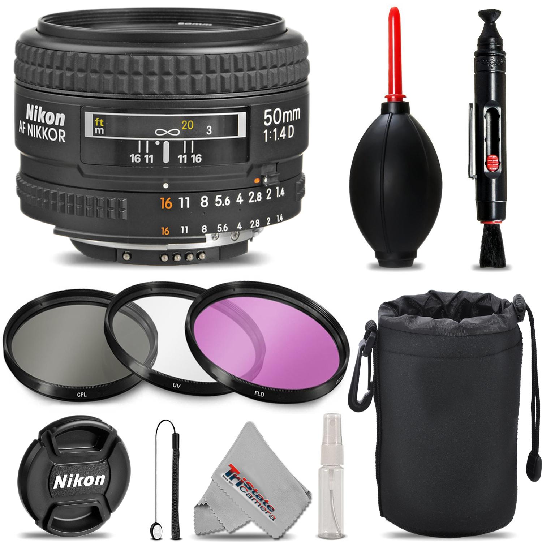 Nikon AF NIKKOR 50mm f/1.4D Autofocus Lens - Deluxe 3pc Filter Kit + Lens Pouch *FREE SHIPPING*