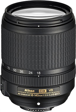 AF-S DX 18-140mm F/3.5-5.6G ED VR Vibration Reduction Zoom Lens (67mm) *FREE SHIPPING*