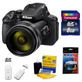 Coolpix P900 Digital SLR Camera Kit + 8GB Memory Card+ Camera/Lens Cleaning Kit+ LCD Screen Protectors+ Memory Card Reader *FREE SHIPPING*
