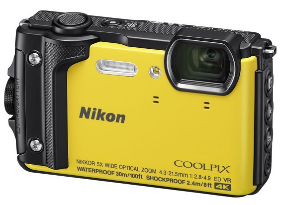 Coolpix W300 16.1 Megapixel, 5x Optical Zoom Lens, 3.0 Inch LCD Screen, Full HD Video, Wi-Fi, GPS, Waterproof & Shockproof Digital Camera - Yellow *FREE SHIPPING*