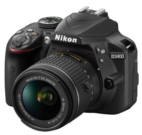 D3400 24.2 Megapixel, Full HD Video DSLR W/AF-P 18-55mm VR G Zoom Lens Kit - Black *FREE SHIPPING*