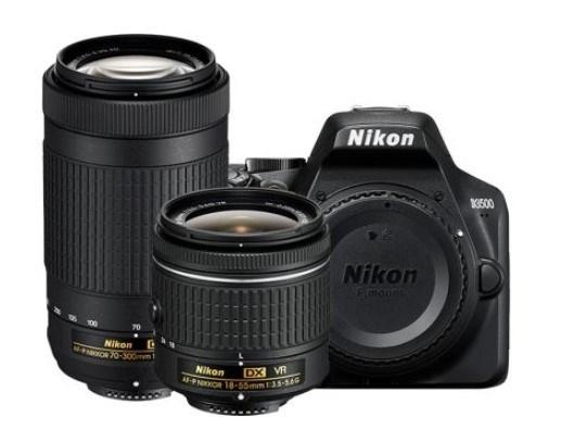 D3500 24.2 MP Compact DSLR w/AF-P 18-55mm VR & 70-300mm 2-Lens Kit - Black *FREE SHIPPING*