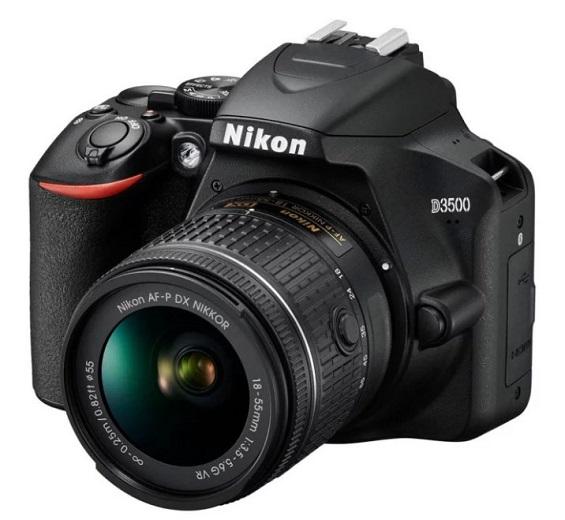 D3500 24.2 Megapixel Compact DSLR W/AF-P 18-55mm VR G Zoom Lens Kit - Black *FREE SHIPPING*
