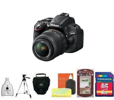 D5100 igital SLR Camera with AF-S 18-55mm VR Zoom Lens Kit • 8GB Memory Card• Camera/Lens Cleaning Kit• LCD Screen Protectors• Memory Card Reader• Deluxe SLR Carrying Case• Davis and Sanford Traveler TriPod *FREE SHIPPING*