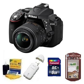 D5300 w/18-55mm Digital SLR Camera Kit + 8GB Memory Card+ Camera/Lens Cleaning Kit+ LCD Screen Protectors+ Memory Card Reader *FREE SHIPPING*