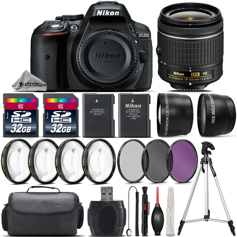 Nikon D5300 Dslr Camera With 18 55mm Vr Lens 4pc Macro Kit Uv Af P