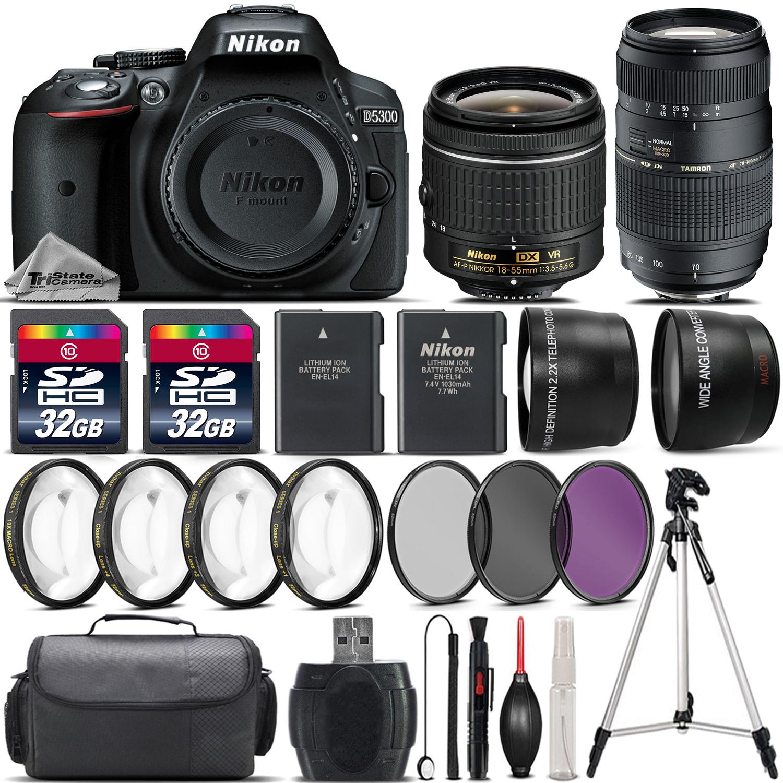 D5300 DSLR Camera with 18-55mm VR Lens + 70-300 Lens + 64GB Bundle Kit *FREE SHIPPING*