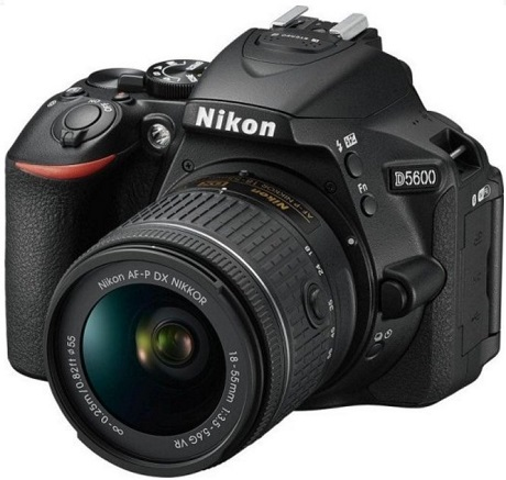 D5600 24.2 Megapixel, 3.2 Inch Vari-Angle TouchScreen Digital SLR Camera with AF-P 18-55mm G VR Zoom Lens Kit - Black *FREE SHIPPING*
