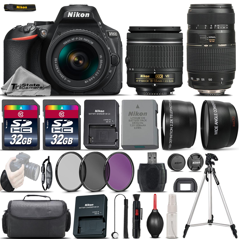 D5600 Digital SLR Camera + 18-55mm VR + 70-300mm + 64GB & More -4 Lens Kit *FREE SHIPPING*