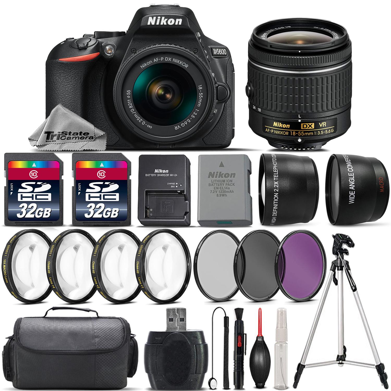 D5600 DSLR Camera with 18-55mm VR Lens + 4PC Macro Kit + UV-CPL-FLD + 64GB *FREE SHIPPING*