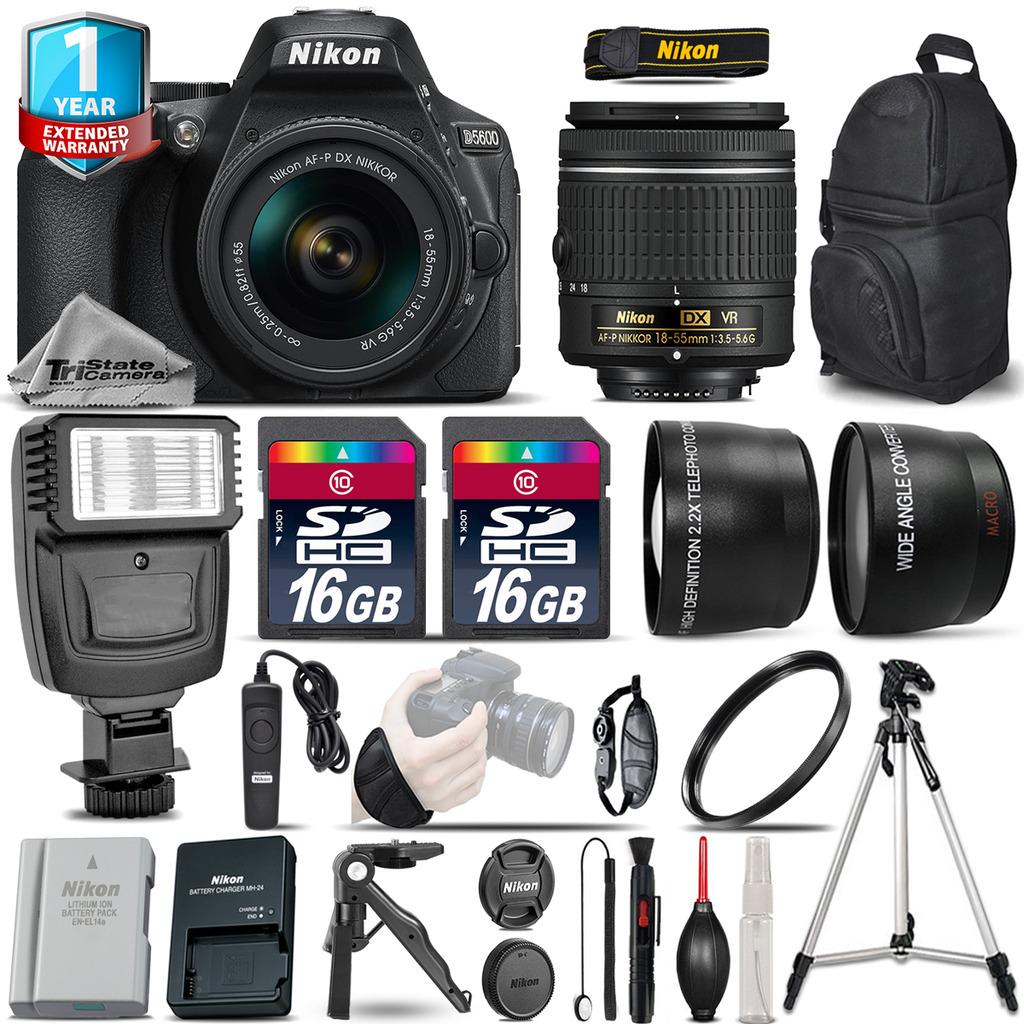 D5600 DSLR Camera + 18-55mm VR - 3 Lens Kit + Extra Battery + 1yr Warranty *FREE SHIPPING*
