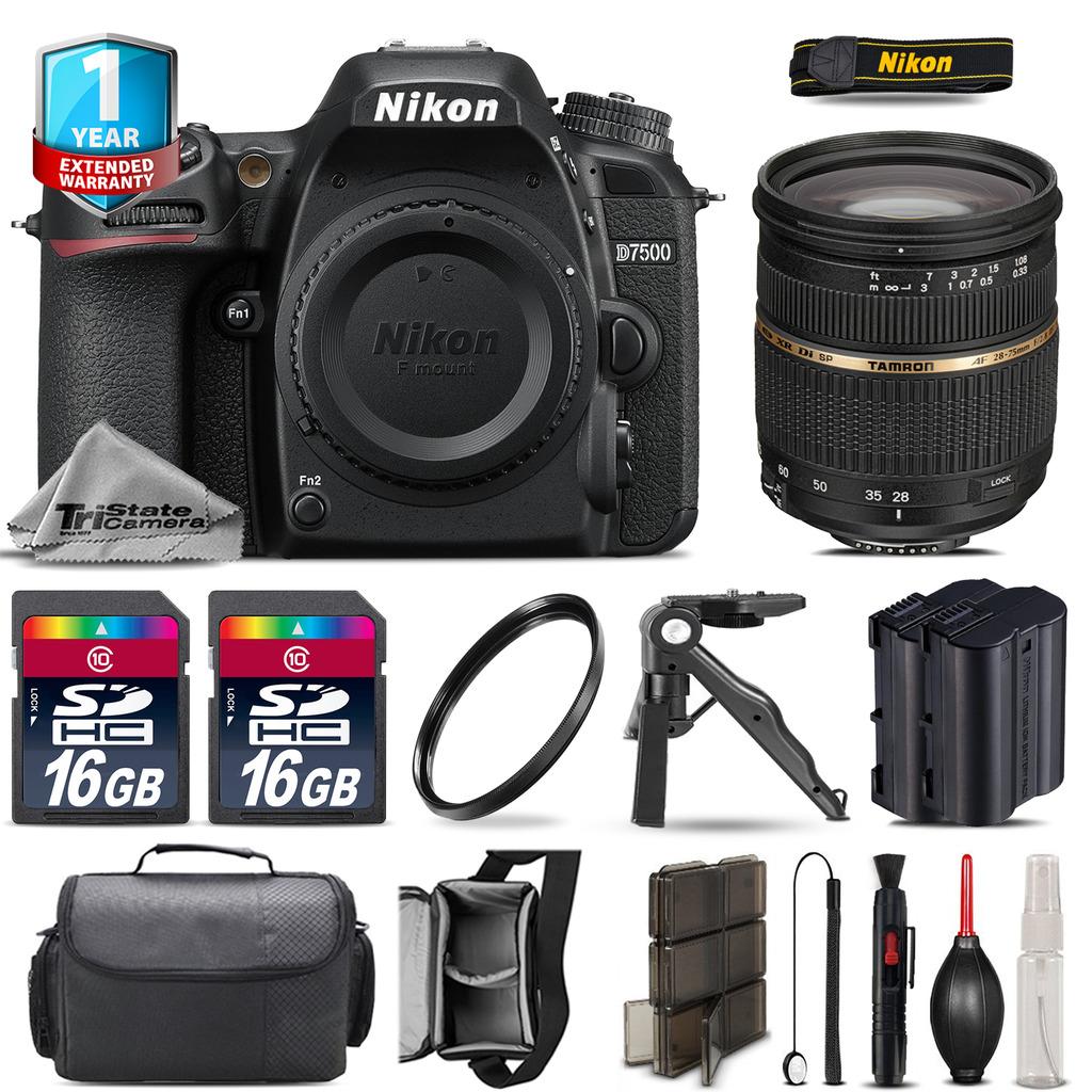 D7500 Camera + 28-75mm 2.8 XR + Extra Battery + UV + 32GB + 1yr Warranty *FREE SHIPPING*