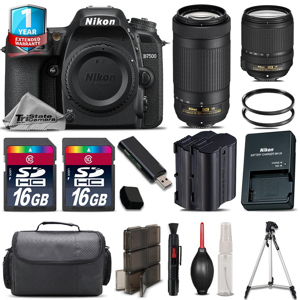 D7500 Camera + AFS 18-140mm VR + 70-300mm VR + Extra Battery +1yr Warranty *FREE SHIPPING*