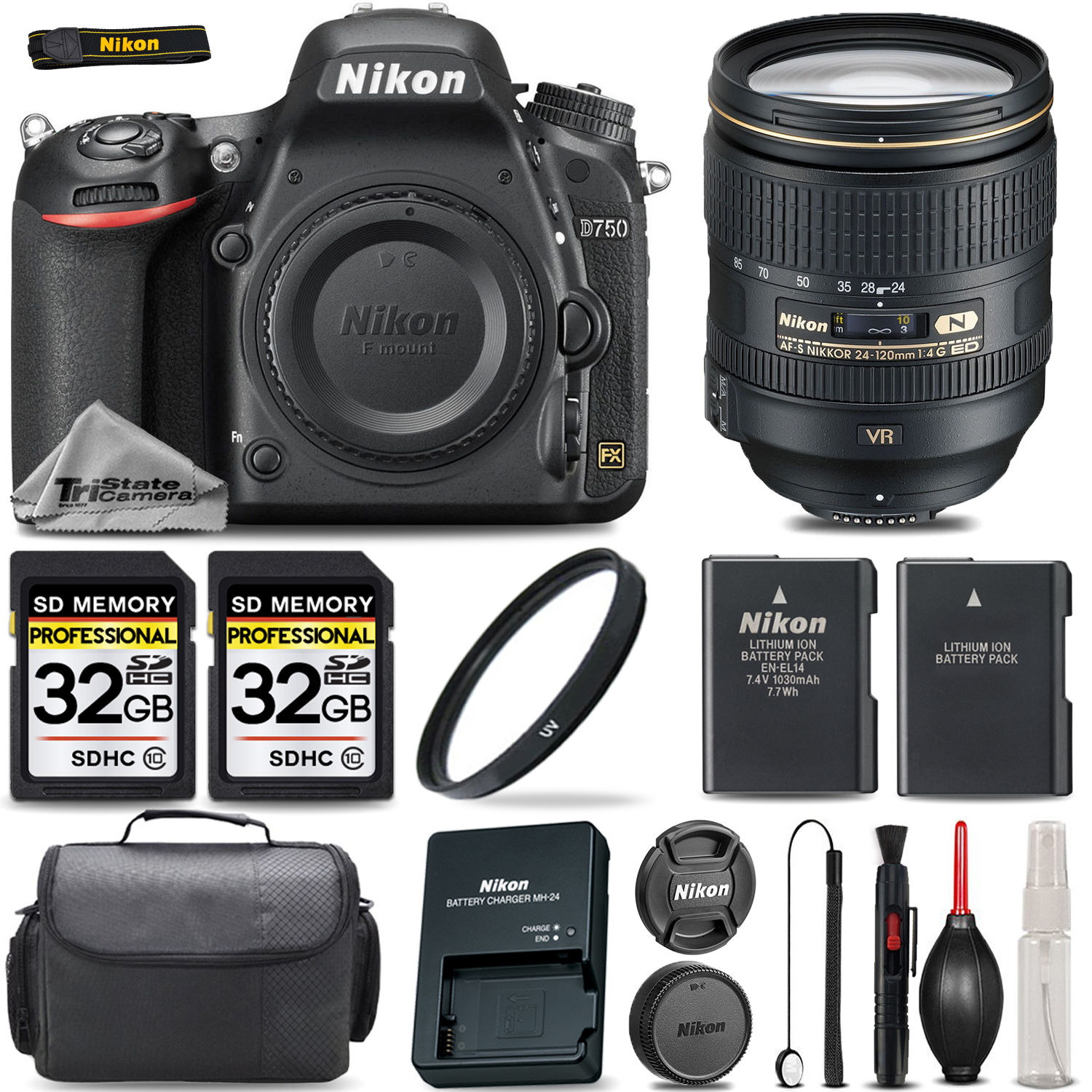 D750 Digital SLR Camera & 24-120mm Lens + 64GB STORAGE + EXTRA BATTERY *FREE SHIPPING*