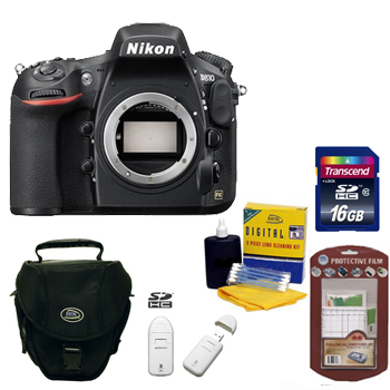 D810 Digital SLR Camera Kit -Black +16GB  Memory Card+ Camera/Lens Cleaning Kit+ LCD Screen Protectors+ Memory Card Reader+ Deluxe SLR Carrying Case *FREE SHIPPING*