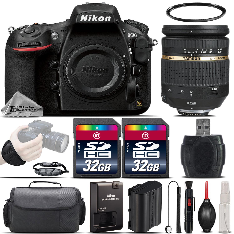 D810 DSLR WiFi FX Camera + 17-50mm f/2.8 Di-II Lens + Wrist Grip -64GB Kit *FREE SHIPPING*
