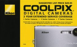 2 Year Extended Service Coverage For Nikon Digital Cameras