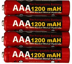 Nickel Metal Hydride Aaa Rechargeable Batteries (4 Pack)