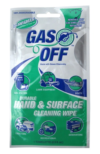 BET-0007 Gas Off Hand Cleaning Wipes - Value Pack (12 Packs of 12 Per Pack) *FREE SHIPPING*