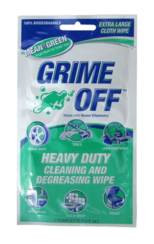 BET-0011 Grime Off Heavy Duty Degreasing & Cleaning Wipes -Value Pack (12 Packs of 12 Per Pack) *FREE SHIPPING*