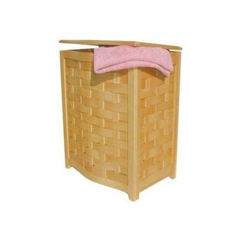 BHV0100N Bowed Front Veneer Laundry Hamper, Natural Finish *FREE SHIPPING*