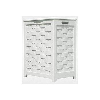 RHV0103W Rectangular Veneer Laundry Hamper, White *FREE SHIPPING*