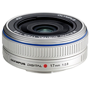 M 17mm F/2.8 Zuiko Digital Micro 4/3 Wide Angle Pancake Lens For PEN E-P1 & E-P2 Cameras (37mm) - Silver *FREE SHIPPING*