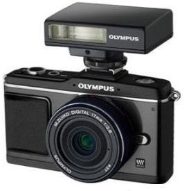 PEN E-P2 12.3 MP Micro Four Thirds DSLR Camera (Black) w/17mm f/2.8 Lens (Black) Kit & FL-14 Flash  *FREE SHIPPING*