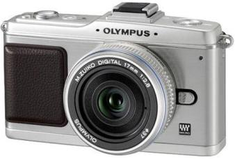PEN E-P2 12.3 MP Micro Four Thirds DSLR Camera (Silver) w/17mm f/2.8 Lens (Silver) *FREE SHIPPING*