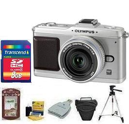 E-P2 SILVR BODY W/17MM SILVER• 8GB Memory Card• Camera/Lens Cleaning Kit• LCD Screen Protectors• Memory Card Reader• Deluxe SLR Carrying Case• Davis and Sanford Traveler TriPod *FREE SHIPPING*