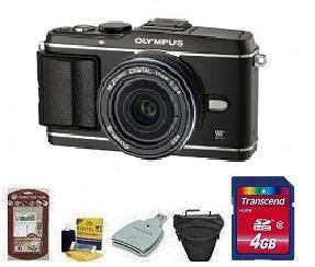 E-P3 Black W/17mm Black Kit• 4GB Memory Card• Camera/Lens Cleaning Kit• LCD Screen Protectors• Memory Card Reader• Deluxe SLR Carrying Case *FREE SHIPPING*