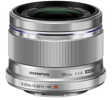 M. Zuiko Digital 25mm F/1.8 Premium Lens - Silver *FREE SHIPPING*