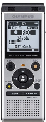 WS-852 4Gb Digital Voice Recorder - Silver *FREE SHIPPING*