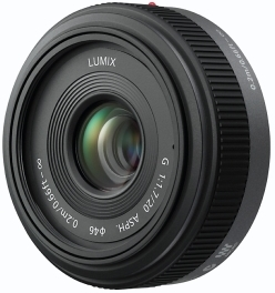 Auto Focus Lumix G 20mm F/1.7 Aspherical Micro 4/3 Pancake Lens (46mm) *FREE SHIPPING*