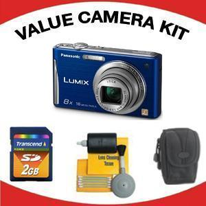 DMC-FH25 Digital Camera - Blue with Value Accessory Kit (2GB Mem Card, Carrying Case & Cleaning Kit) *FREE SHIPPING*
