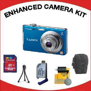 LUMIX DMC-FH2A Digital Camera - Blue with Enhanced Accessory Kit (4GB Mem Card, Card Reader, Carrying Case, Tripod & Cleaning Kit) *FREE SHIPPING*
