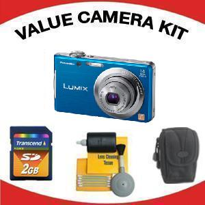 LUMIX DMC-FH2A Digital Camera - Blue with Value Accessory Kit (2GB Mem Card, Carrying Case & Cleaning Kit) *FREE SHIPPING*