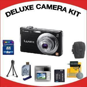 DMC-FH5K Digital Camera - Black with Deluxe Accessory Kit (8GB Mem Card, Card Reader, Carrying Case, Spare Battery & More) *FREE SHIPPING*