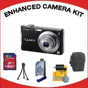 DMC-FH5K Digital Camera - Black with Enhanced Accessory Kit (4GB Mem Card, Card Reader, Carrying Case, Tripod & Cleaning Kit) *FREE SHIPPING*