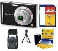 DMC-FX55k Digital Camera - Black• 1GB Memory Card• Camera/Lens Cleaning Kit• Table-Top Tripod• Deluxe Case