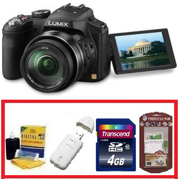 DMC-FZ200K Movie Digital Camera - Black • 4GB Memory Card• Camera/Lens Cleaning Kit• LCD Screen Protectors• Memory Card Reader *FREE SHIPPING*