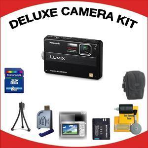 Lumix DMC-TS10K Digital Camera - Black with Deluxe Accessory Kit (8GB Mem Card, Card Reader, Carrying Case, Spare Battery & More) *FREE SHIPPING*