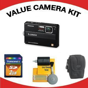 Lumix DMC-TS10K Digital Camera - Black with Value Accessory Kit (2GB Mem Card, Carrying Case & Cleaning Kit) *FREE SHIPPING*