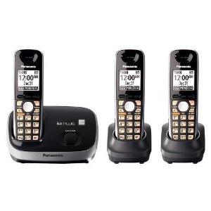KX-TG6513B DECT 6.0 PLUS Expandable Cordless Phone System + 3 Handsets